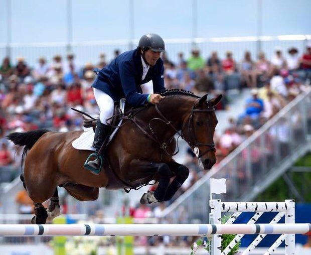 Nestor Nielsen disputó la tercera ronda en equitación y no pasó a la final