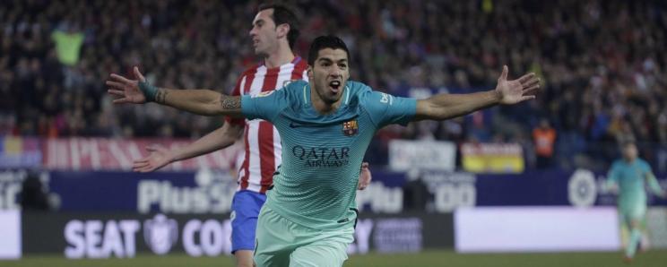 Suarez dejó otra huella en la Copa del Rey
