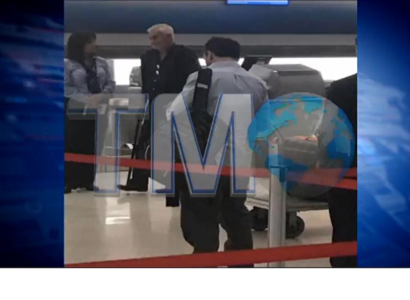 Telemundo emitió video que muestra a Sanabria embarcando hacia Uruguay