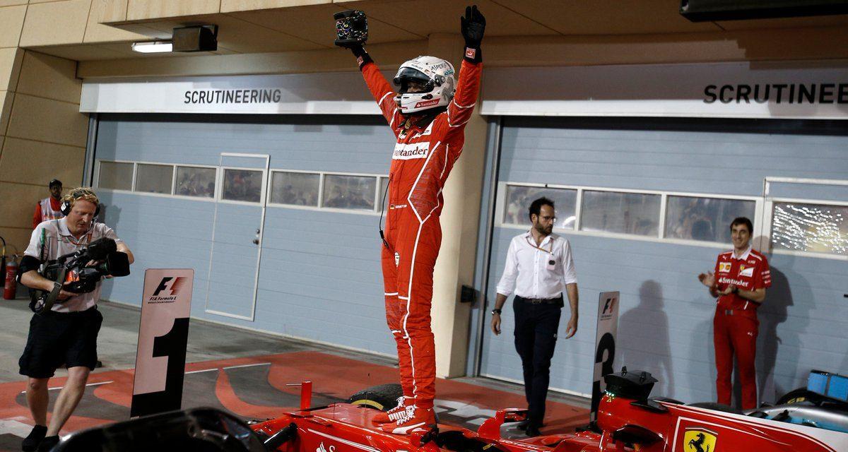 Vettel ganó en Fórmula 1 y Ferrari es líder