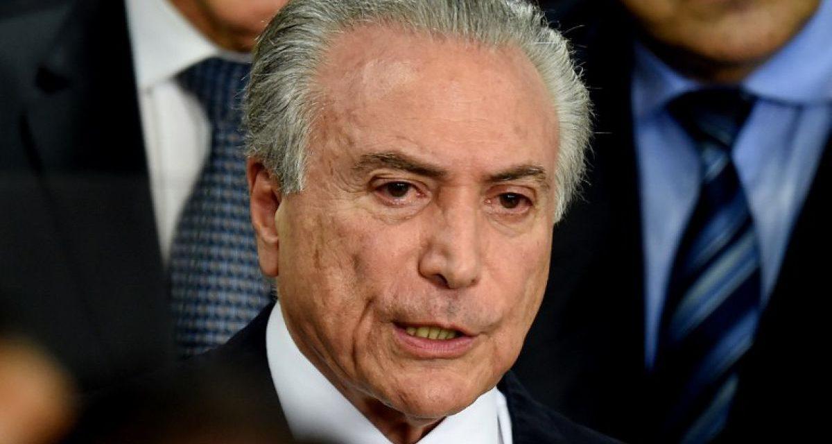 Escándalo en Brasil: grabaron al presidente Temer pactando una coima