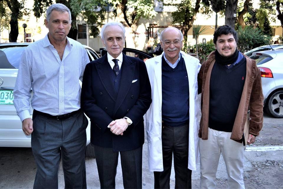 El tenor José Carreras visitó la Fundación Perez Scremini