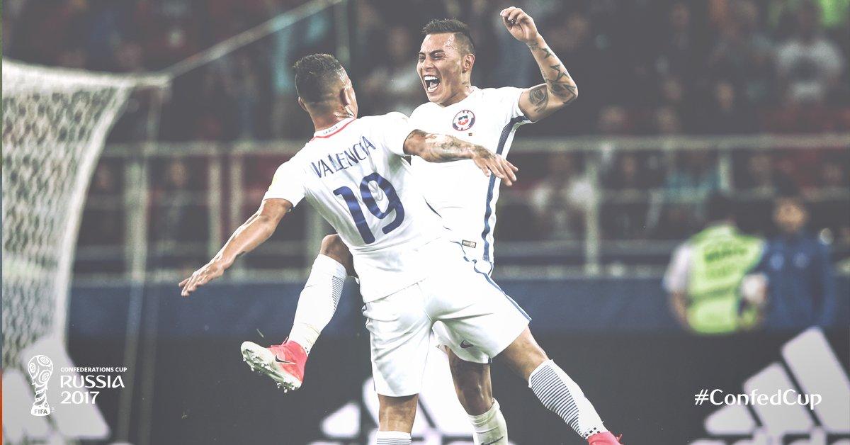 Chile ganó en su debut en la Copa Confederaciones