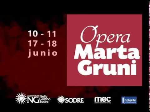 Se reestrena Marta Gruni en el SODRE: una ópera muy montevideana