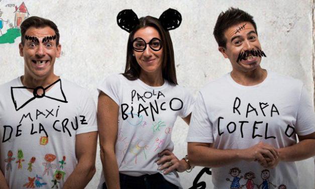 """""""Hijos nuestros"""" Maxi, Paola y Rafa en el Movie"""