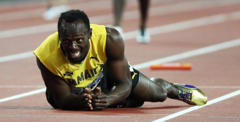 Bolt se lesionó en su última competencia profesional