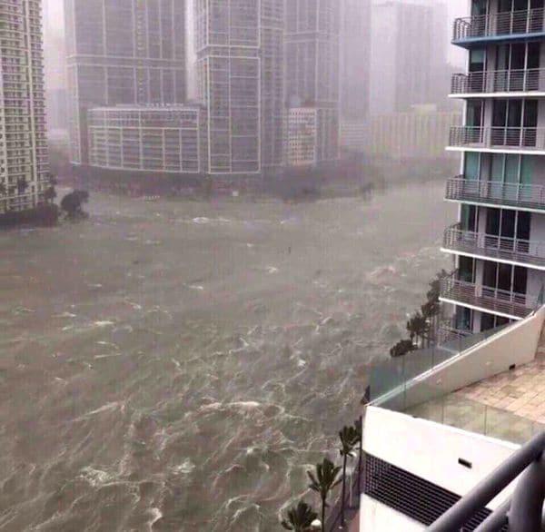 Irma comenzó a inundar Miami: impactantes videos