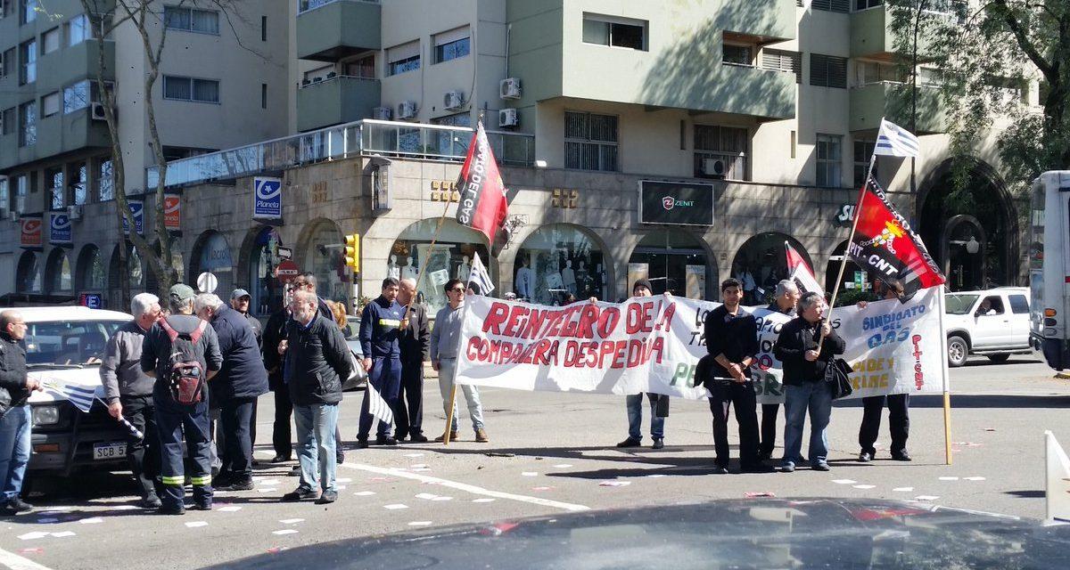 Trabajadores del Gas en la Embajada de Brasil por demandas de Petrobrás