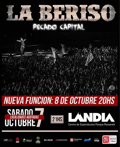 La Beriso regresa a Uruguay y actúa en Landia