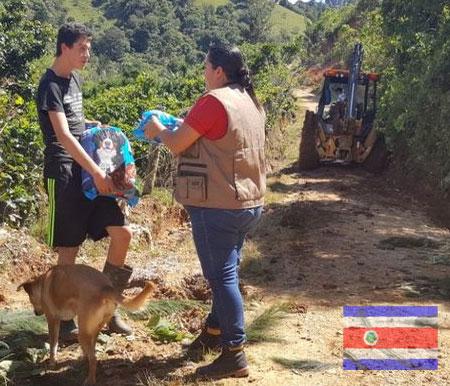 Recolectan sustento para los animales afectados por la tormenta Nate en Costa Rica