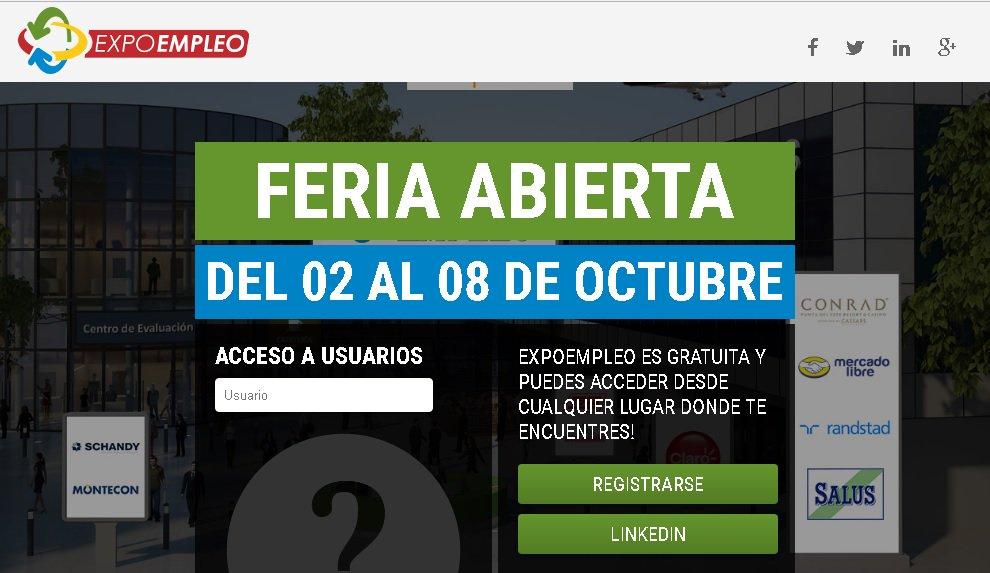 Ofertas laborales en grandes empresas en la 11ª Expo Empleo por internet