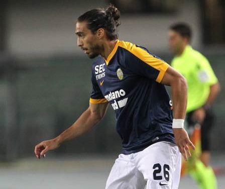 Cáceres convirtió su primer gol con el Hellas Verona