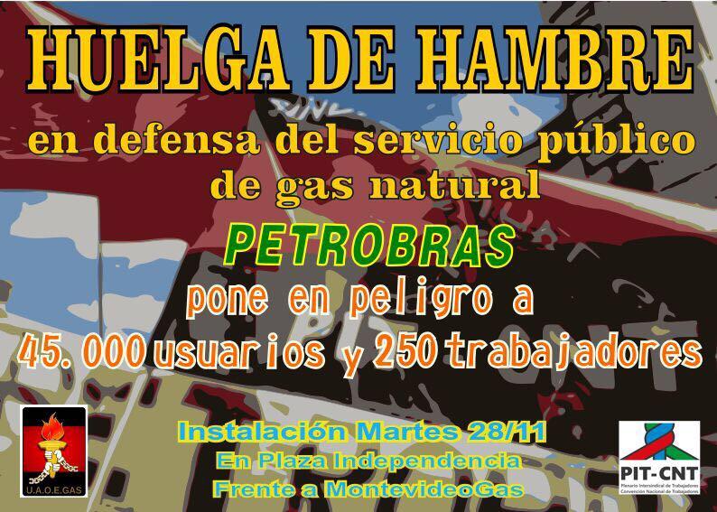 Huelga de hambre de trabajadores de la Compañía del Gas - 970AM ...