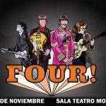 """The 4 Beats"": banda tributo a Beatles premiada en América"