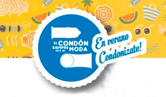 """""""El condón siempre está de moda. En verano Condonizate!"""""""