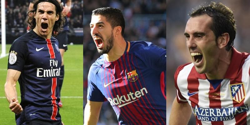 Cavani, Suárez y Godín entre los 100 mejores jugadores de 2017 según The Guardian