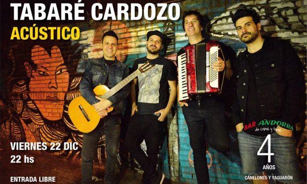 Tabaré Cardozo se presenta en Bar Andorra