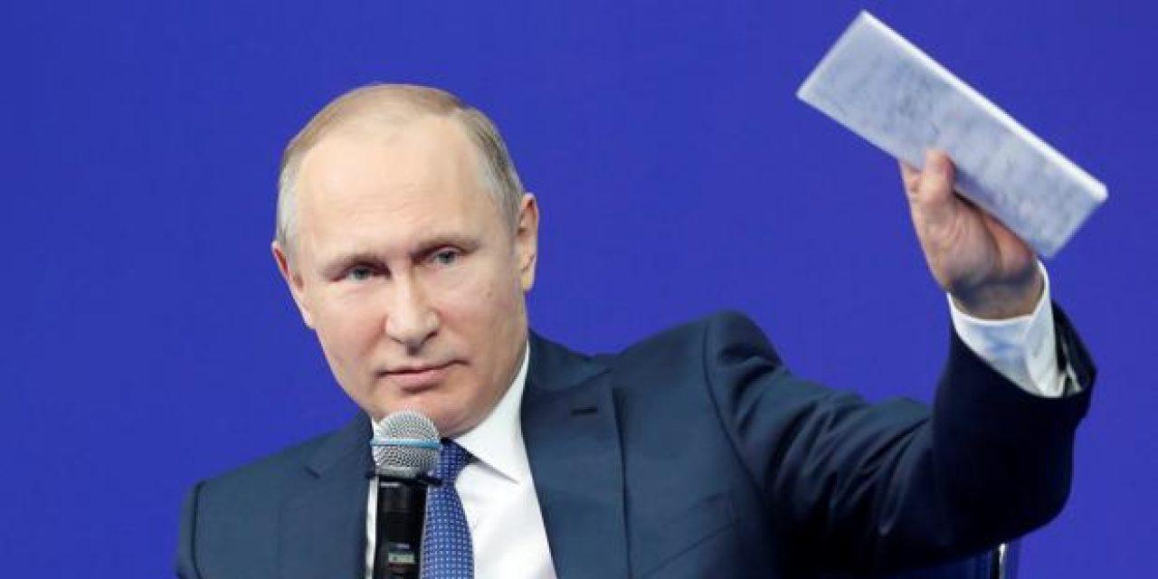 """Putin cree que la """"Lista del Kremlin"""" daña las relaciones entre Rusia y Estados Unidos"""