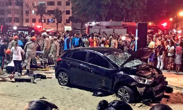 Atropello masivo en la playa de Copacabana (#video)