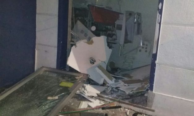 Explotaron otro cajero automático