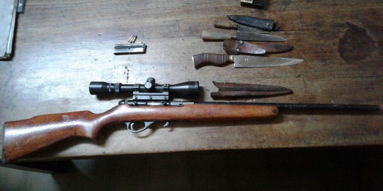 Incautaron 9 carpinchos faenados y armas de caza en Artigas