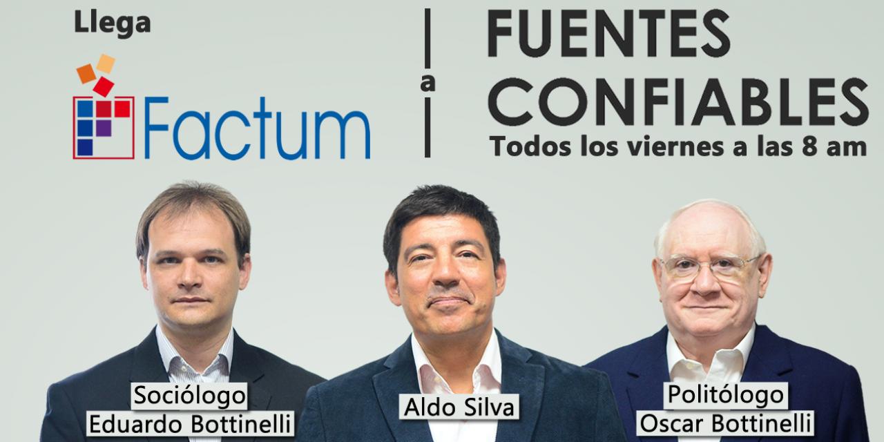 Óscar Bottinelli presenta y analiza este viernes la última encuesta de Factum en Fuentes Confiables