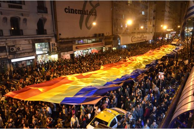Resultado de imagen para marcha por la diversidad uruguay 2018