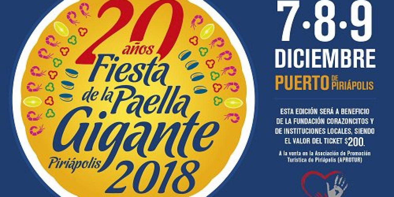 Piriápolis recibe la temporada celebrando 20 años de la Fiesta de la Paella Gigante