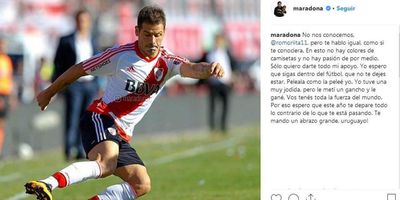 """Maradona a Mora: """"No te dejes estar. Peleala como la peleé yo"""""""