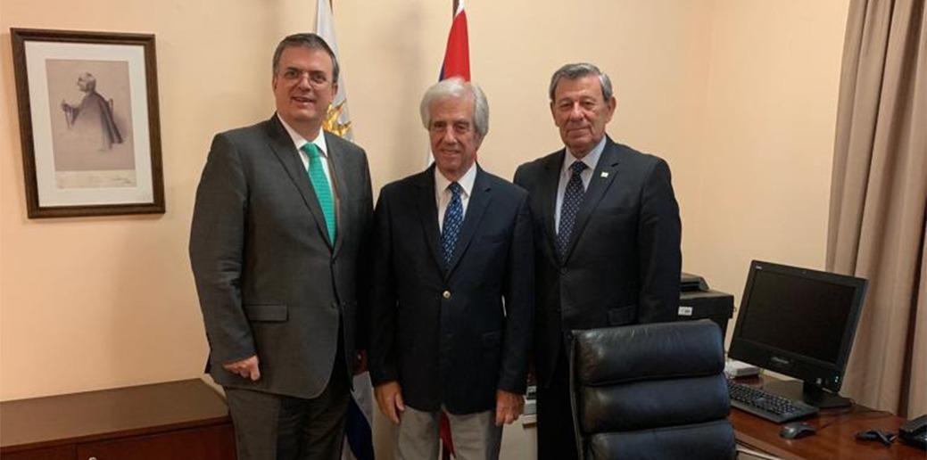 Vázquez recibió al canciller mexicano previo a la cumbre