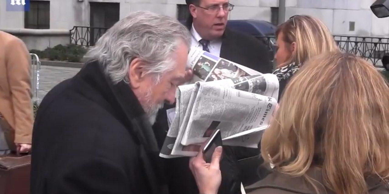 Tapalo con diario: De Niro enfadado con su chofer a la salida del juzgado