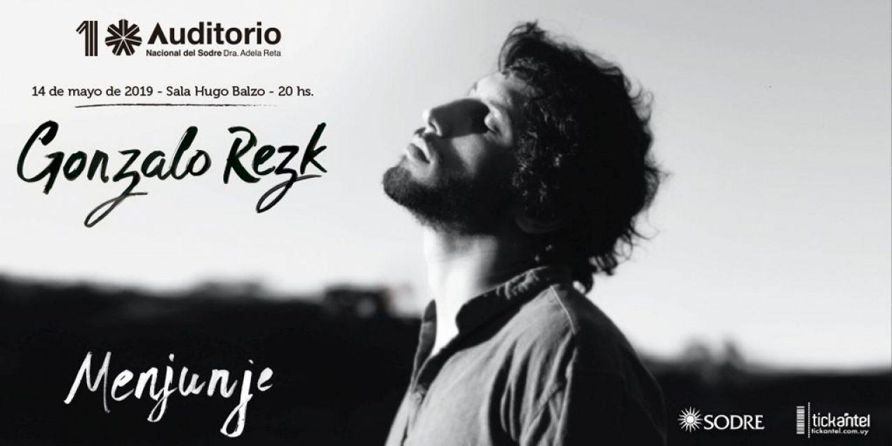"Gonzalo Rezk y su ""Menjunje"" llegan al Sodre"