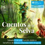 """Dos funciones de """"Cuentos de la selva"""" del Ballet Nacional Sodre, a beneficio de Aldeas Infantiles"""