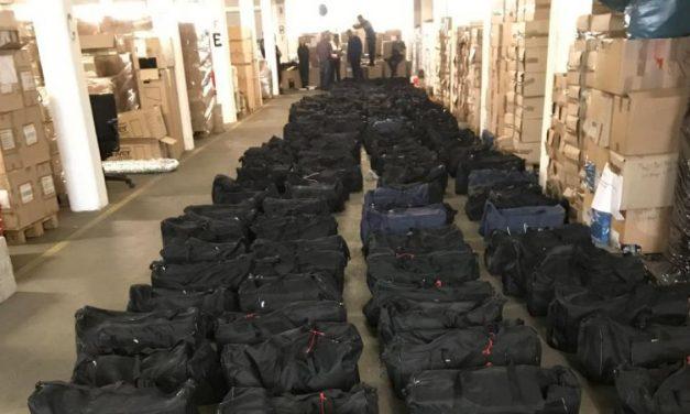 La droga que pasa por Uruguay, más de 5100 kilos de cocaína sin ser detectados por la Aduana