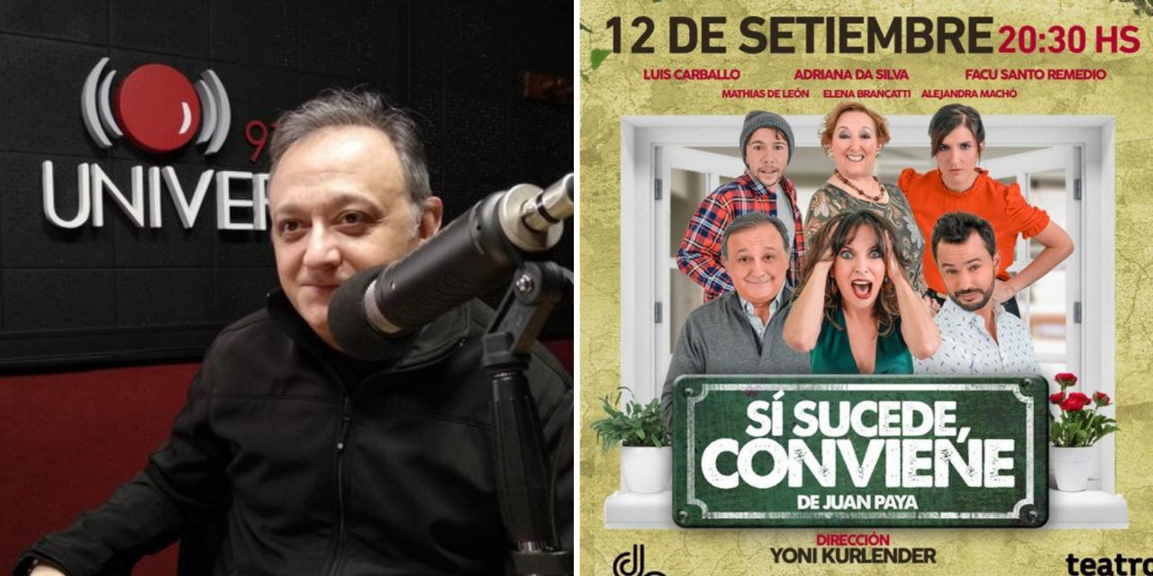 "Luis Carballo estrena ""Si sucede, conviene"" junto a un gran elenco"