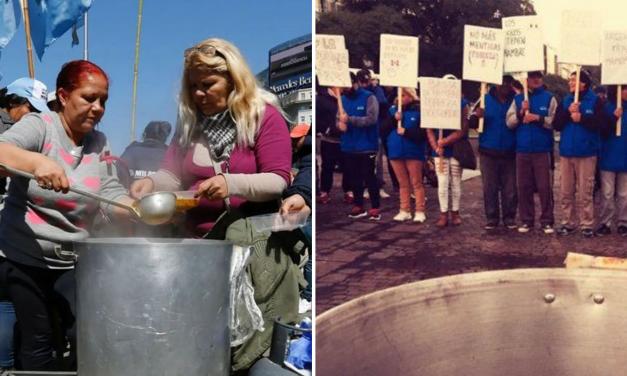 Cómo se vive en Buenos Aires la movilización por emergencia alimentaria
