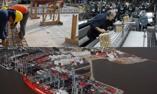 ¿Cuál es la situación de la industria, el comercio y la construcción?