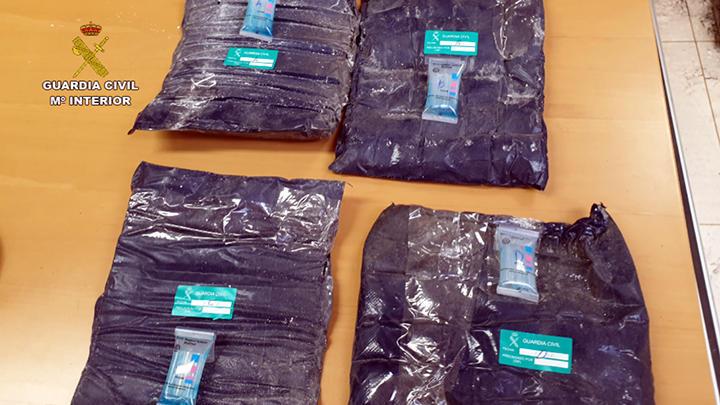 Incautan cocaína en Tenerife procedente de Uruguay
