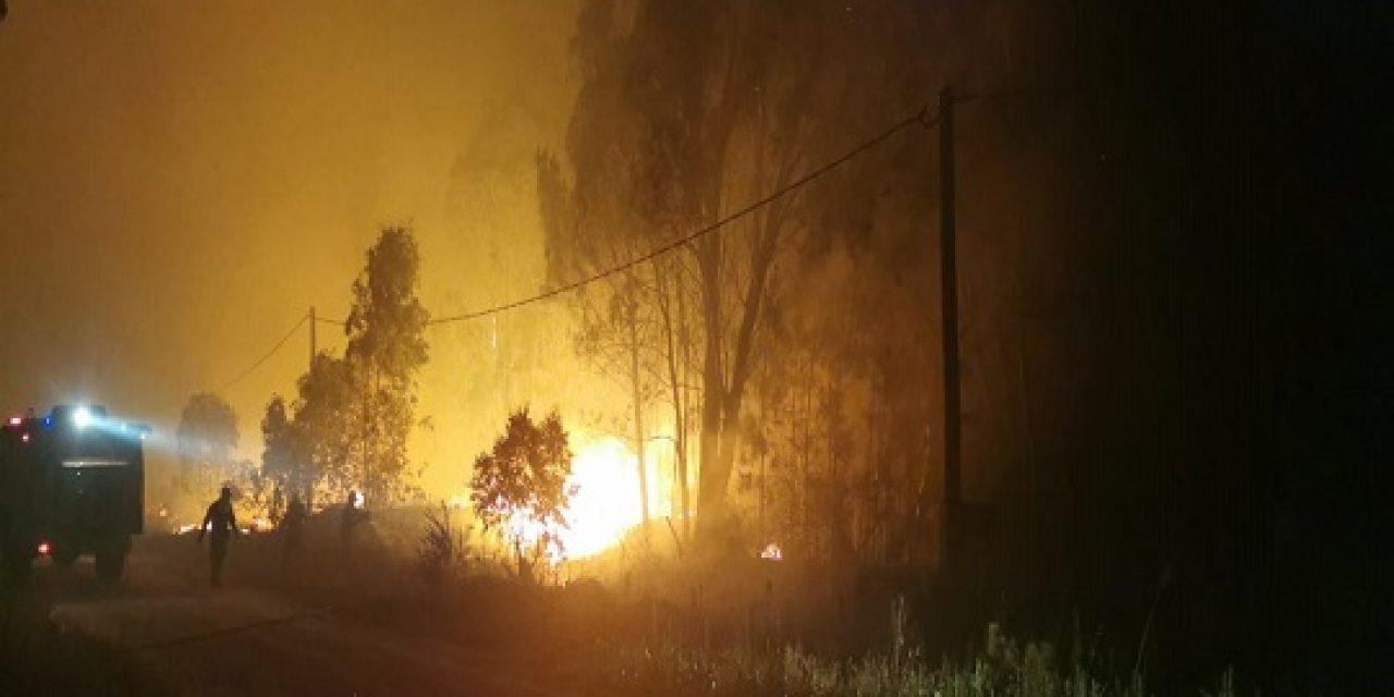 Fuego sin control en Melilla lleva más de 24 horas; Bomberos combate dos incendios en Maldonado
