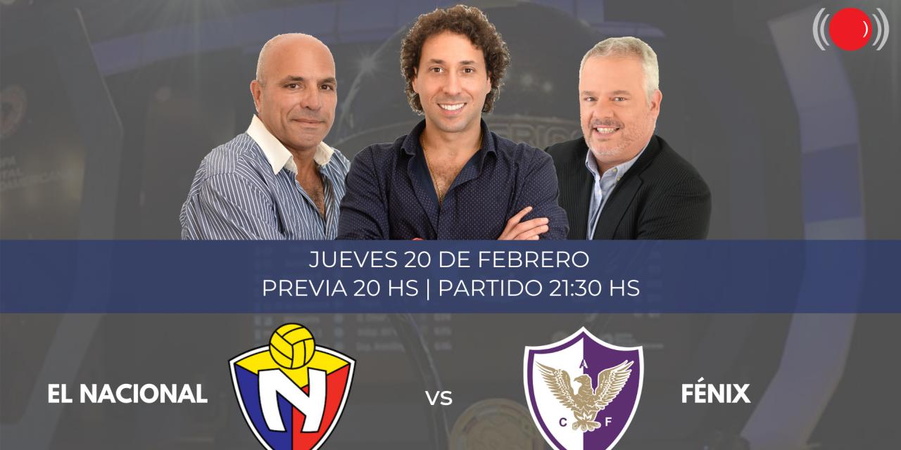 Fénix y El Nacional de Quito se enfrentan por la Copa Sudamericana