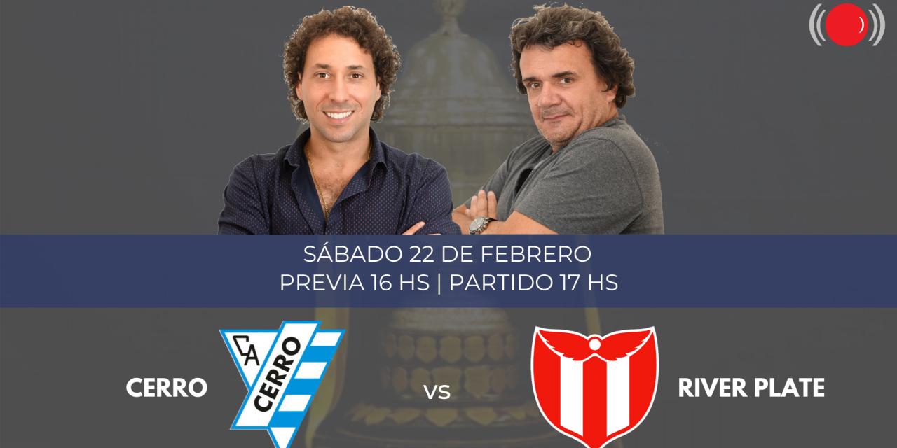 Cerro y River Plate se enfrentan por el Torneo Apertura