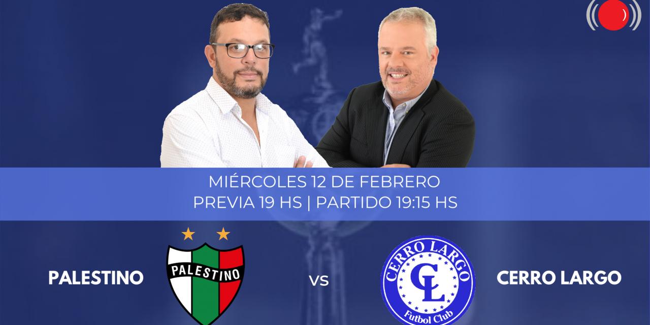 Palestino y Cerro Largo se enfrentan en la Copa Libertadores