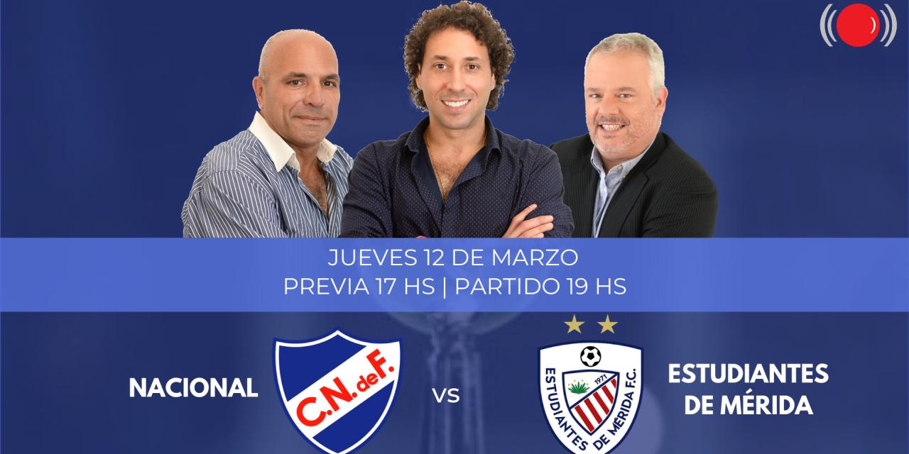 Nacional se enfrenta a Estudiantes de Mérida por Copa Libertadores