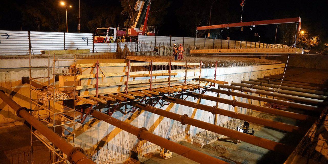 Comenzó construcción del techo del túnel de avenida Italia