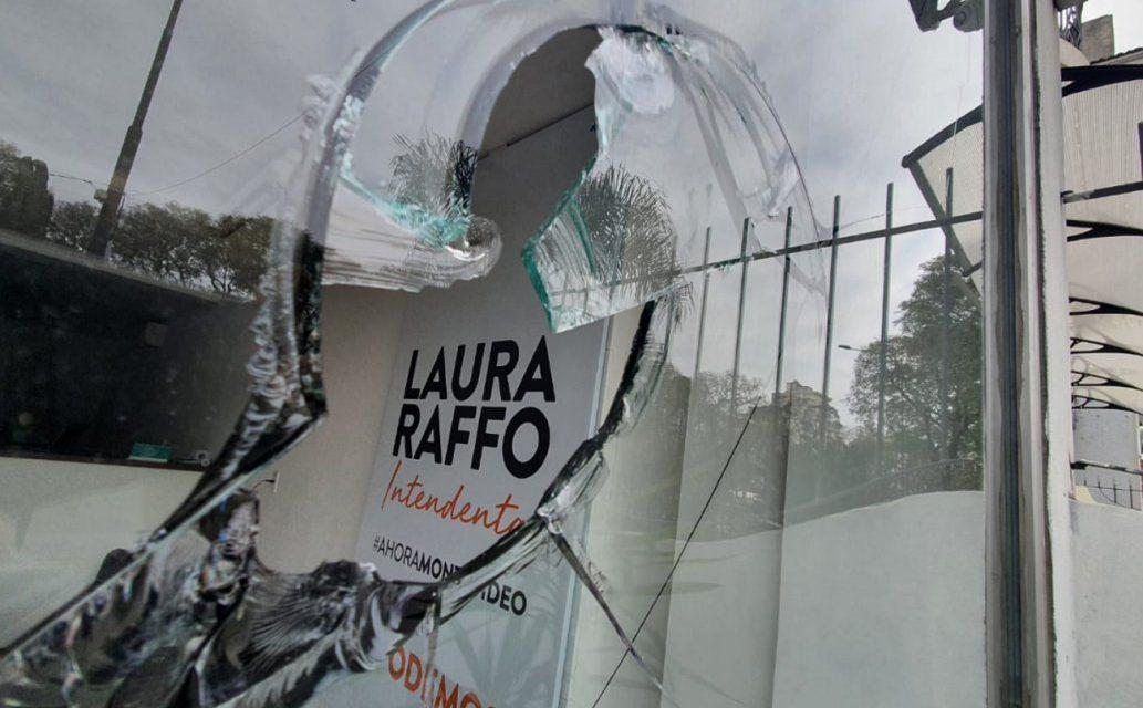 Atacaron con piedras sede de campaña de Laura Raffo