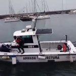 Rescataron a dos personas luego que su embarcación se diera vuelta en el Río de la Plata
