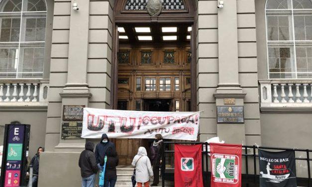 Sindicato de UTU ocupa edificio central en reclamo de mayor presupuesto