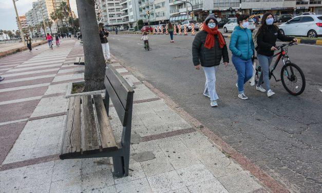 Rambla de Montevideo vuelve a ser peatonal este domingo pero en nuevo horario