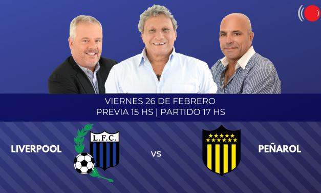 Liverpool contra Peñarol por la décima fecha del Torneo Clausura