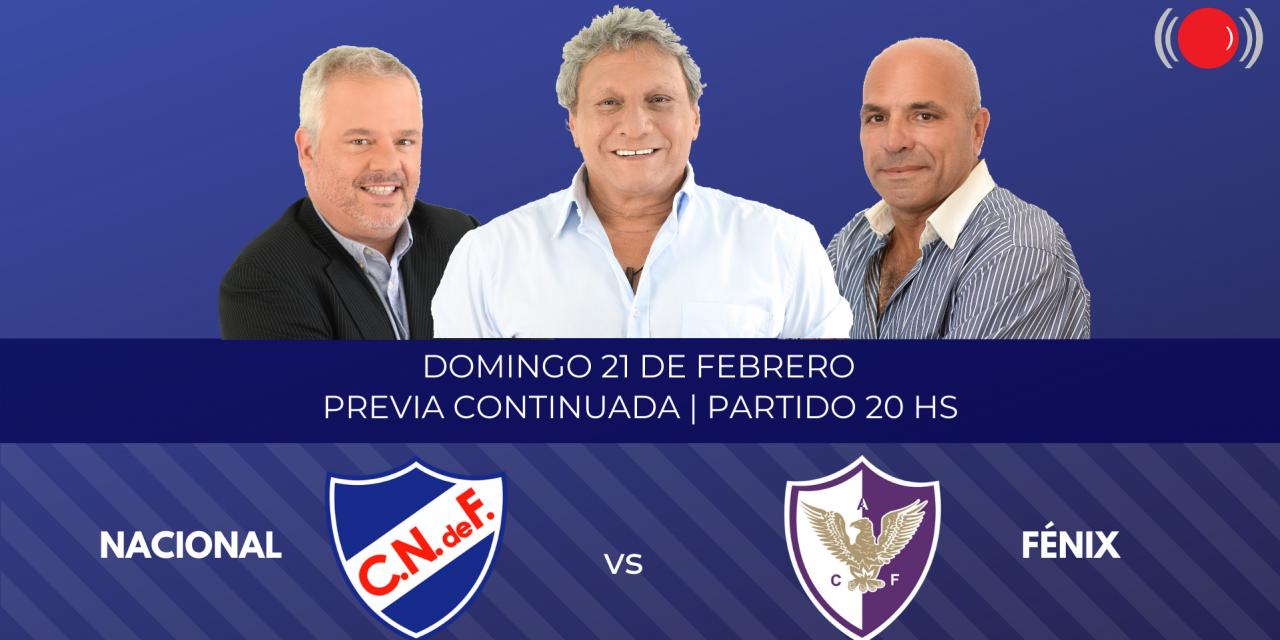 Nacional contra Fénix por la novena fecha del Torneo Clausura